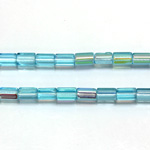 Czech Glass Fire Polished Bead - Atlas 06x4MM AQUA AB