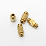 Brass Bead - Lead Safe Machine Made Fancy Tube 08x3.5MM RAW BRASS