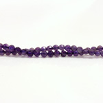 Gemstone Bead - Faceted Round 04MM AMETHYST