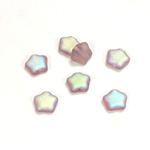 Czech Pressed Glass Bead - Star 08MM MATTE LT AMETHYST AB