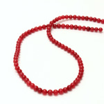 Gemstone Bead - Smooth Round 04MM DOLOMITE DYED RED