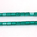 Czech Glass Fire Polished Bead - Atlas 06x4MM EMERALD