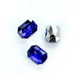 Plastic Point Back Foiled Stone - Cushion Octagon 14x10MM SAPPHIRE