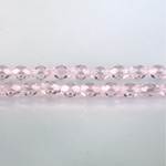 Czech Glass Fire Polish Bead - Oval 06x4MM LT PINK