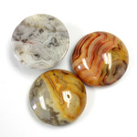 Gemstone Cabochon - Round 18MM MEXICAN CRAZY LACE