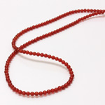 Gemstone Bead - Smooth Round 03MM CORNELIAN