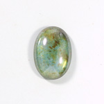 Glass Medium Dome Coated Cabochon - Oval 25x18MM LUSTER GREEN