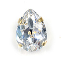 Crystal Stone in Metal Sew-On Setting - Pear Shape 18x13MM MAXIMA CRYSTAL-RAW