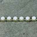 Czech Rhinestone Cup Chain - Extra Brilliant PP18 (SS8.5) CHALKWHITE-RAW