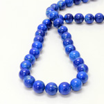 Gemstone Bead - Smooth Round 10MM HOWLITE DYED LAPIS