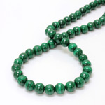 Gemstone Bead - Smooth Round 08MM MALACHITE