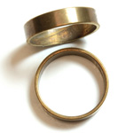 Brass Finger Ring Size 9 - 0.191 inch Round