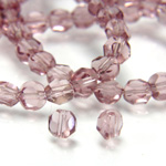 Chinese Cut Crystal Bead - Round Disc Side Drilled 04MM LIGHT AMETHYST