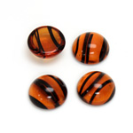 Glass Medium Dome Cabochon - Round 13MM TORTOISE