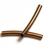 Brass Curved Bead - Hollow Tube 28x3MM RAW