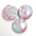 Synthetic Cabochon - Round 18MM Matrix SX06 PINK-BLUE-WHITE
