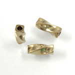 Brass Bead - Lead Safe Machine Made Twisted Square Tube 09.2x4MM RAW BRASS