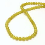 Gemstone Bead - Smooth Round 06MM JADE OLIVE