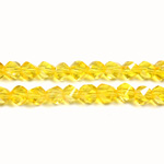 Chinese Cut Crystal Bead - Helix Twisted 04MM JONQUIL