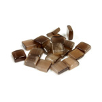 Fiber-Optic Flat Back Buff Top Straight Side Stone - Square 06x6MM CAT'S EYE BROWN
