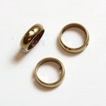 Brass Bead Frames - Rings Side Drilled 2-Holes 08MM