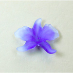 German Plastic Flower with Center Hole - Orchid 25x21MM MATTE AMETHYST