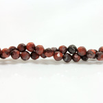 Gemstone Bead - Faceted Round 06MM TIGEREYE RED