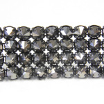 Preciosa Metal Spike Banding 4 Row - Round 19SS SILVER FLARE/BLACK
