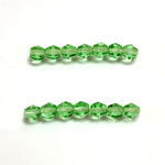 Czech Glass Fire Polished Bead - Bicone 04MM PERIDOT