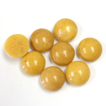 Gemstone Cabochon - Round 10MM YELLOW JASPER