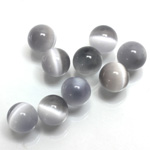 Fiber-Optic No-Hole Ball - 10MM CAT'S EYE LT GREY
