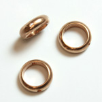 Brass Bead Frames - Rings Side Drilled 2-Holes 09MM