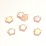 Czech Pressed Glass Bead - Star 08MM MATTE ROSALINE AB