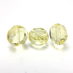 Chinese Cut Crystal Bead - Round Disc Side Drilled 08MM JONQUIL