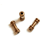 Brass Machine Made Bead - Fancy Tube 08x3MM RAW