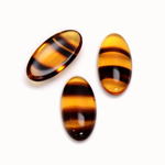 Glass Medium Dome Cabochon - Oval 18x9MM TORTOISE