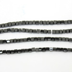 Gemstone Bead - Cube Smooth 04x4MM BLACK ONYX