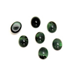 Glass Medium Dome Cabochon - Oval 08x6MM PEARL GREEN SPINEL