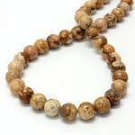 Gemstone Bead - Smooth Round 10MM LANDSCAPE JASPER