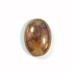 Glass Medium Dome Coated Cabochon - Oval 25x18MM LUSTER TAUPE
