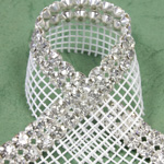 Rhinestone Banding with MC Chaton 2 Row with Net One Edge - Round 19SS CRYSTAL-SILVER-WHITE