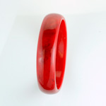 Acrylic Bangle - Wide Domed 18MM RED CORAL MATRIX