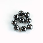 Gemstone Bead - Smooth Round 2.5MM Diameter Hole 08MM HEMATINE