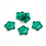 Czech Pressed Glass Bead - Star 12MM EMERALD