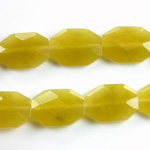 Gemstone Bead - Faceted Octagon 18x13MM Dyed QUARTZ Col. 41 OLIVE