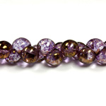 Czech Pressed Glass Bead - Mushroom 09x8MM ROSE LUMI