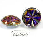 Glass Flat Back Pinwheel Round 18MM CRYSTAL VULCANO