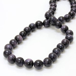 Man-made Bead - Smooth Round 10MM BLUE GOLDSTONE