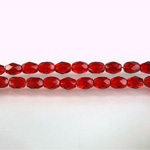 Czech Glass Fire Polish Bead - Oval 06x4MM RUBY