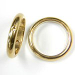 Brass Bead Frames - Rings Side Drilled 2-Holes 16MM